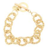 MONET JEWELRY Monet Gold-Tone Circle Link Flex Bracelet