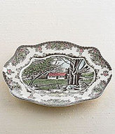 """Johnson Bros. Friendly Village 11.5"""" Bless This House Tray"""