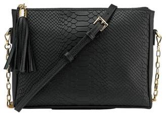 GiGi New York Hailey Chain Python-Embossed Leather Crossbody Bag
