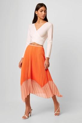 Ali Light Neon Pleated Skirt