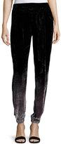 Young Fabulous and Broke Ciarra Velvet Ombre Pants, Black/Gray
