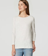 LOFT Flecked Shoulder Button Tee