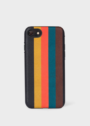 'Bright Stripe' Leather iPhone 7/8 Case