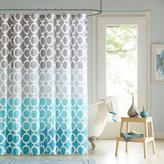 Dani Printed Shower Curtain and Hook Set - Teal