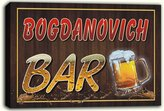 AdvPro Canvas scw3-051594 BOGDANOVICH Name Home Bar Pub Beer Mugs Stretched Canvas Print Sign