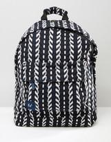 Mi-Pac Folk Knit Backpack In Navy