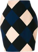 Nina Ricci high-waisted diamond skirt