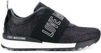 Love Moschino logo glitter sneakers