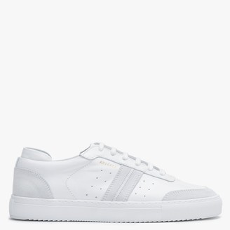 Axel Arigato Mens Dunk White Leather & Suede Low Top Trainers