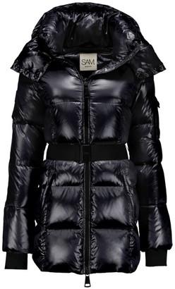 SAM. Soho Belted Nylon Down Mid-Length Jacket