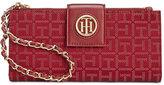Tommy Hilfiger Monogram Jacquard Wristlet Wallet