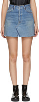RE/DONE Indigo Levi's Edition High-Rise Denim Miniskirt