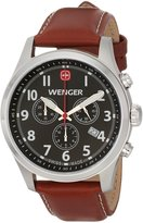 Wenger 0543.102 Men's Terragraph Black Dial Brown Leather Strap Chronograph Watch