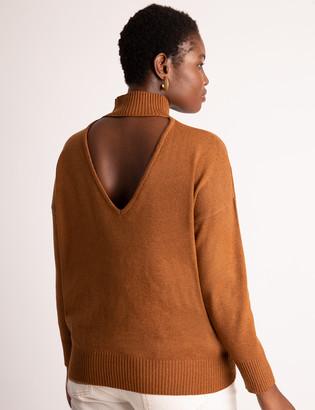 ELOQUII V-Back Turtleneck Sweater