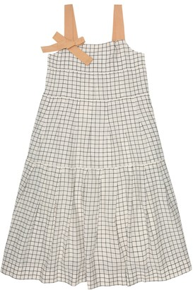 Caramel Angel checked cotton dress