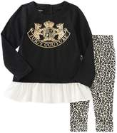 Juicy Couture Logo Graphic Tunic & Legging Set