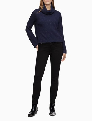 Calvin Klein Ribbed Cowl Neck Pullover Sweater