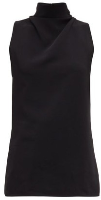 Proenza Schouler Knotted-back Cady Top - Black
