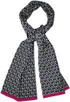Michael Kors Derby Gray Trim Knit Scarf