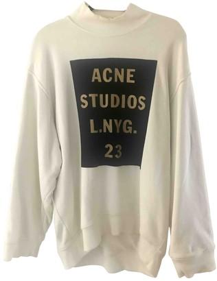 Acne Studios Ecru Cotton Knitwear for Women