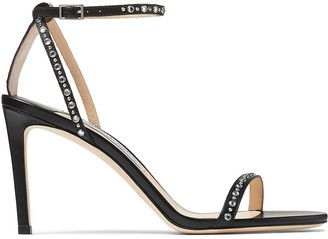 Jimmy Choo Minny leather sandals 85mm