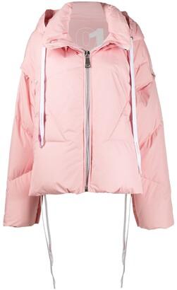 KHRISJOY Detachable-Sleeved Down Jacket