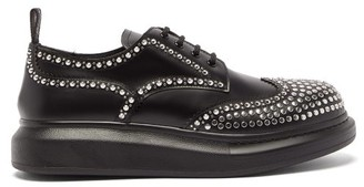 Alexander McQueen Studded Exaggerated-sole Leather Derby Shoes - Black Multi