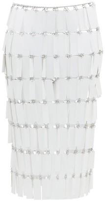 Paco Rabanne Geometric-paillette Chainmail Skirt - Womens - White