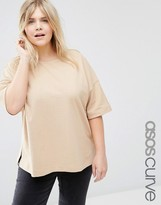 Asos Textured Top In Oversized Boxy Fit