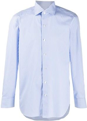 Finamore 1925 Napoli Striped Long-Sleeve Shirt