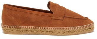 Castaner Suede Penny Loafers - Brown