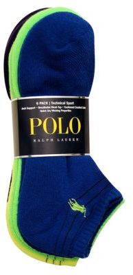 Polo Ralph Lauren Black Stripe Embellished Socks 6-Pack