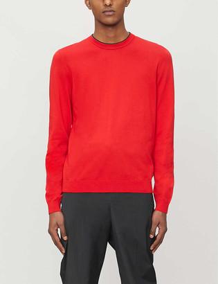 HUGO BOSS Crewneck cotton-knit jumper