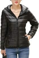 CHERRY CHICK Women's Packable Down Jacket Dark Green