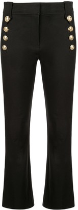 Derek Lam 10 Crosby Robertson Cropped Flare Trouser with Sailor Buttons
