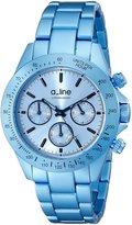 A Line a_line Women's 20050-LBU Amore Chronograph Aluminum Watch