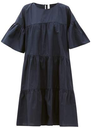 Merlette New York St. Germain Tiered Cotton Dress - Womens - Navy