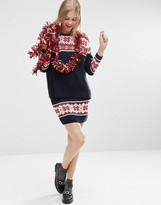 Asos Co Ord Knitted Skirt In Christmas Fairisle