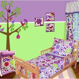 Bacati 4-pc. Botanical Sanctuary Purple Toddler Bedding Set