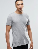 Jack and Jones Longline T-Shirt with Zips