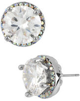 Betsey Johnson Round Crystal Stud Earrings