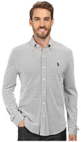 U.S. Polo Assn. Long Sleeve Slim Fit Birdseye Pique Button Down Sport Shirt