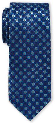 Ted Baker Navy Flower Link Silk Tie