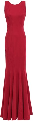 ZAC Zac Posen Open-back Stretch-crepe Gown