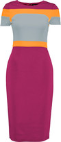 Raoul Trinity color-block stretch-crepe dress