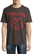 True Religion Faded Skull Logo T-Shirt, Black