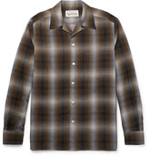 Wacko Maria - Camp-collar Checked Voile Shirt