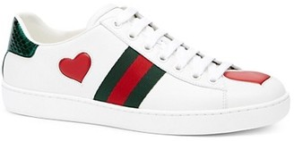 Gucci New Ace Heart Leather Sneakers