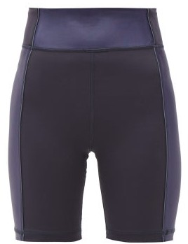 The Upside Nalu Side-panelled Spin Shorts - Womens - Navy