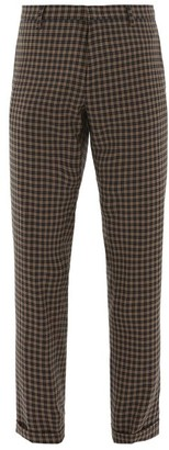 Paul Smith Tapered-leg Checked Wool Trousers - Navy Multi